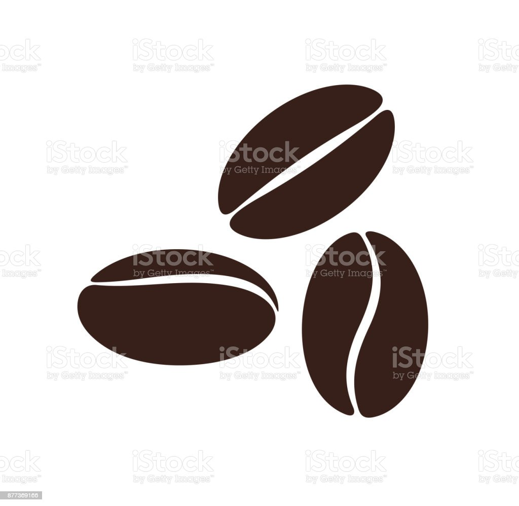 Coffee Bean Isolated Coffe Beans On White Background Stock ...