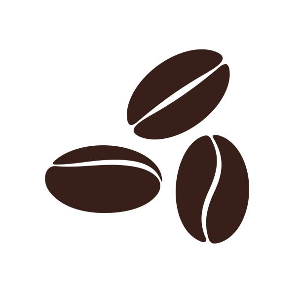 coffee bean. isolated coffe beans on white background - ziarno kawy palonej stock illustrations