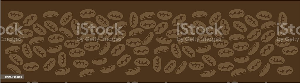 Coffee Bean Pattern Vector royalty-free stock vector art