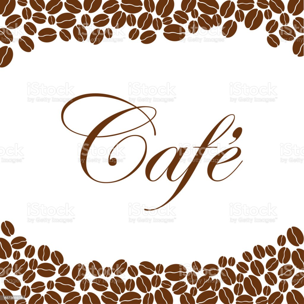 Coffee Beans Background Coffee Design Template Creative Vector Cafe ...