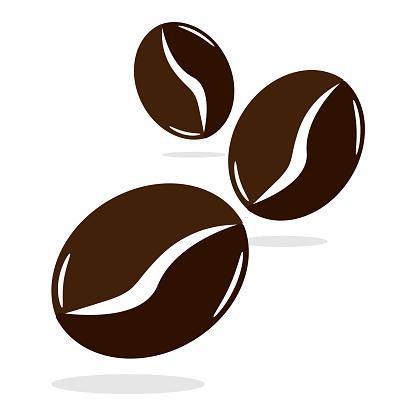 Coffee beans flat design