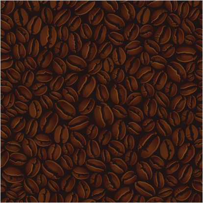 Coffee beans illustration background