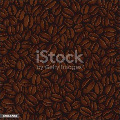 Vector illustration of seamless coffee pattern