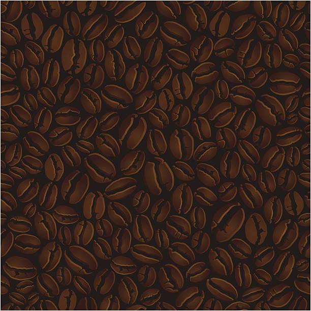 커피 원두 원활한 배경기술 - coffee stock illustrations