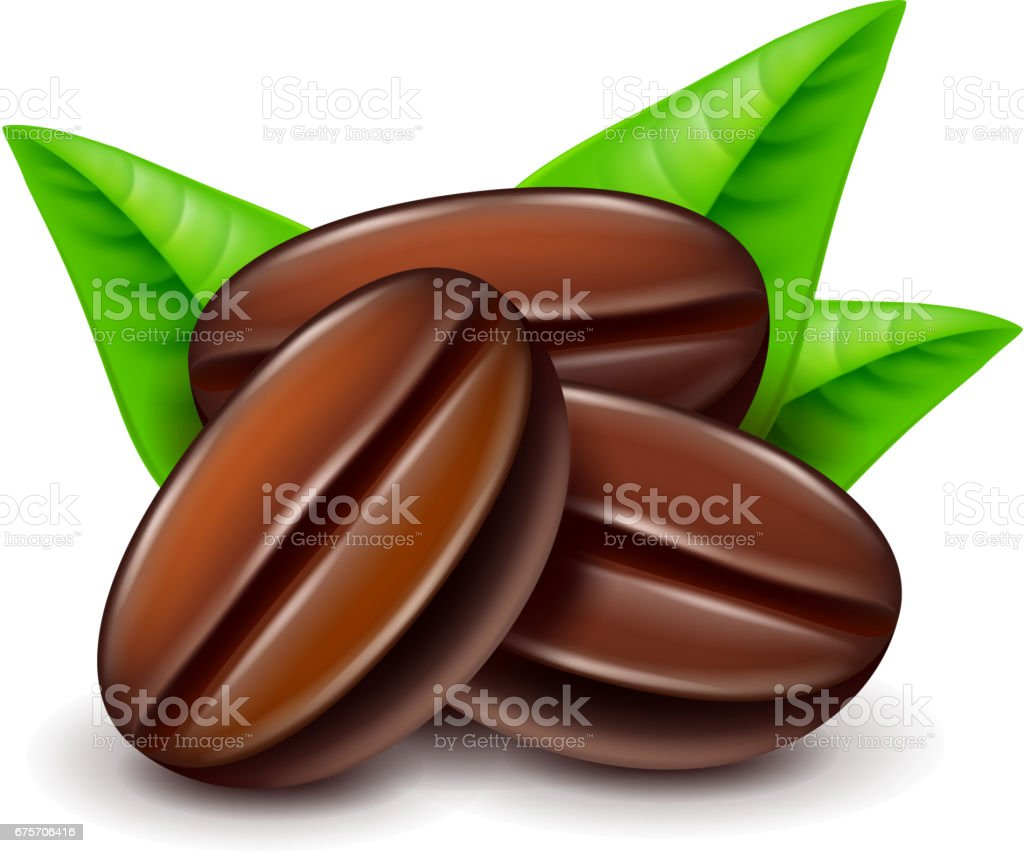 Coffee beans isolated on white vector royalty-free coffee beans isolated on white vector stock vector art & more images of aromatherapy