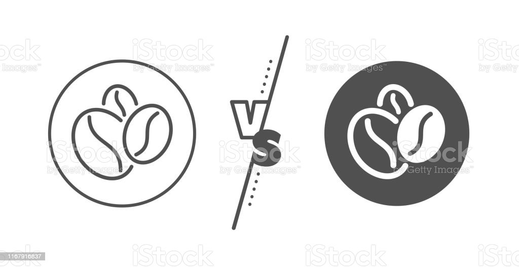 coffee beans line icon hot cappuccino seed sign roasted seeds vector stock illustration download image now istock https www istockphoto com vector coffee beans line icon hot cappuccino seed sign roasted seeds vector gm1167916837 322268712