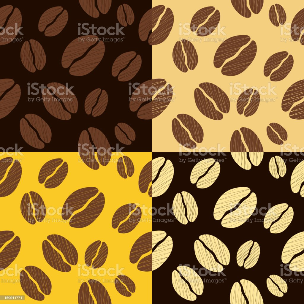 coffee beans seamless pattern background vector illustration royalty-free stock vector art