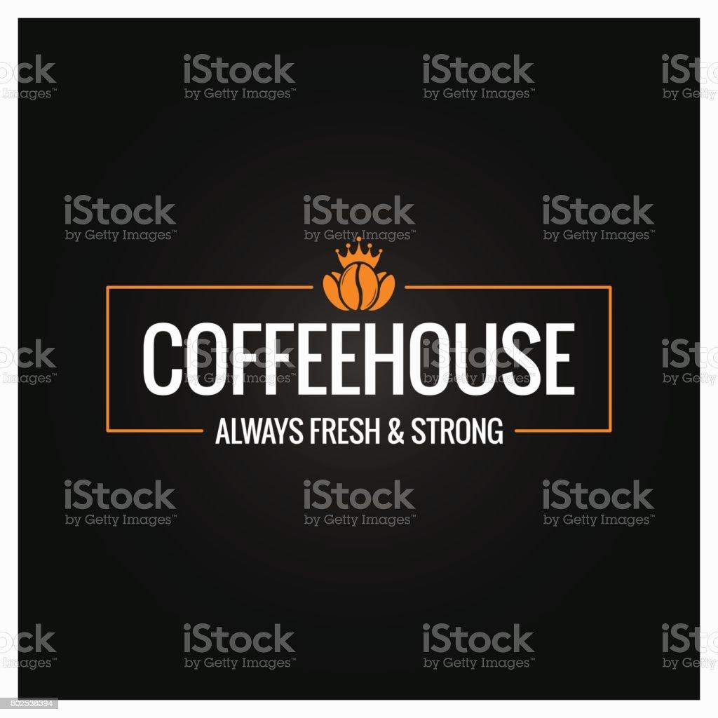 coffee beans symbol design background vector art illustration