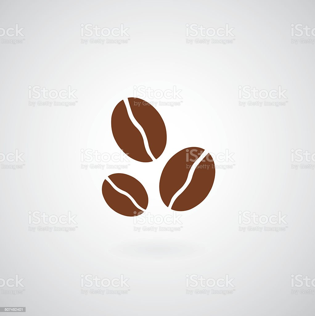 Coffee beans symbol vector art illustration