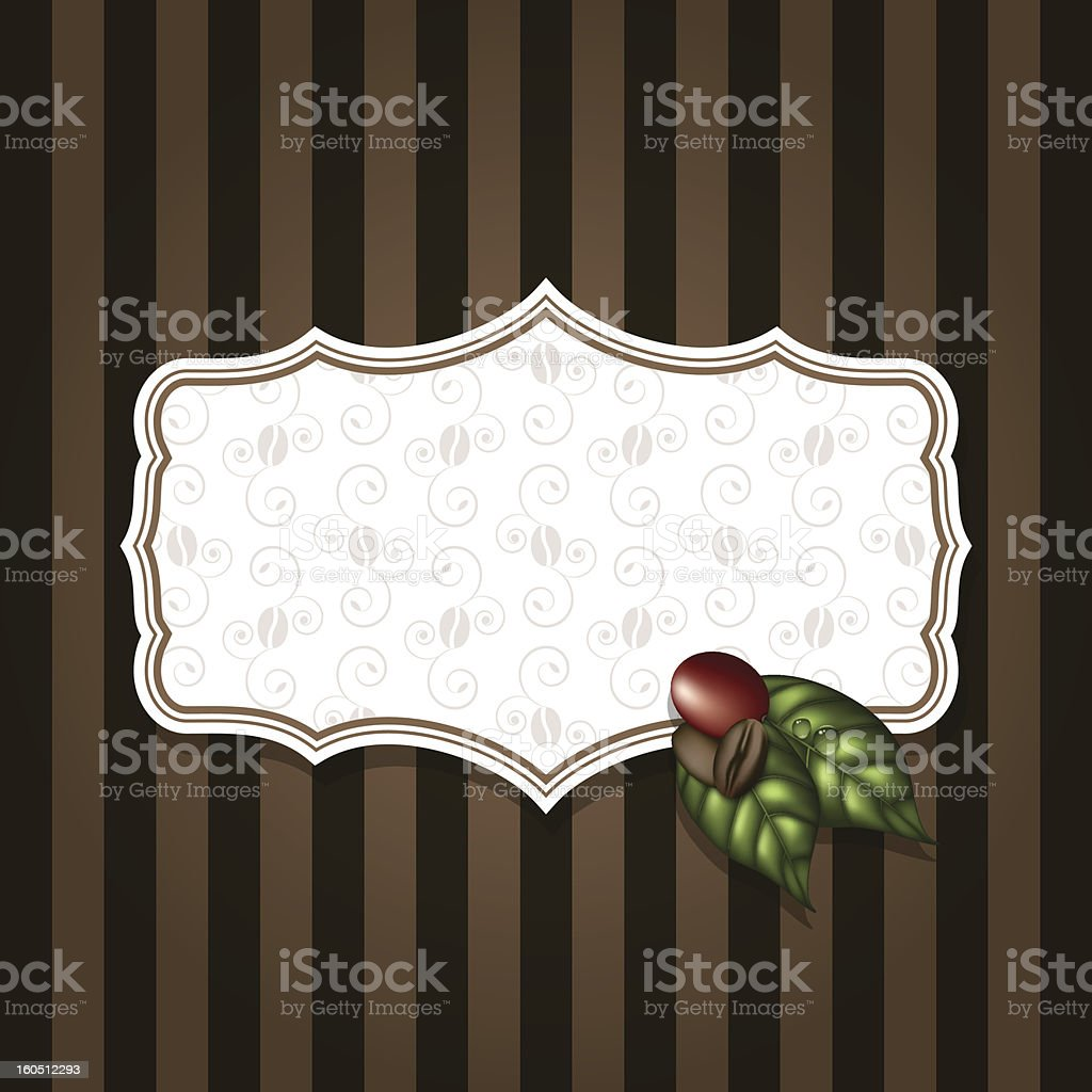 coffee beans with leafs background royalty-free stock vector art