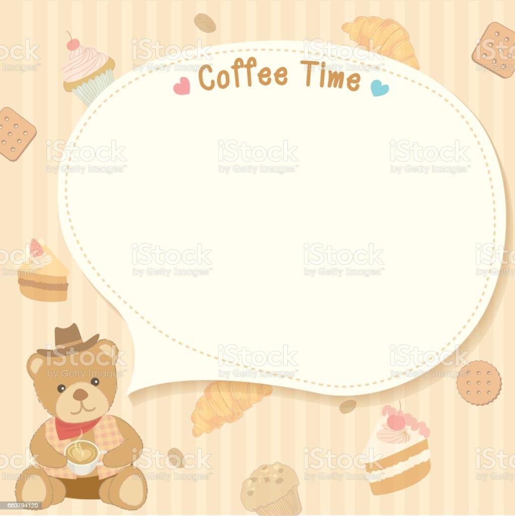 Kaffeebärmenüvorlage Stock Vektor Art und mehr Bilder von Backen ...