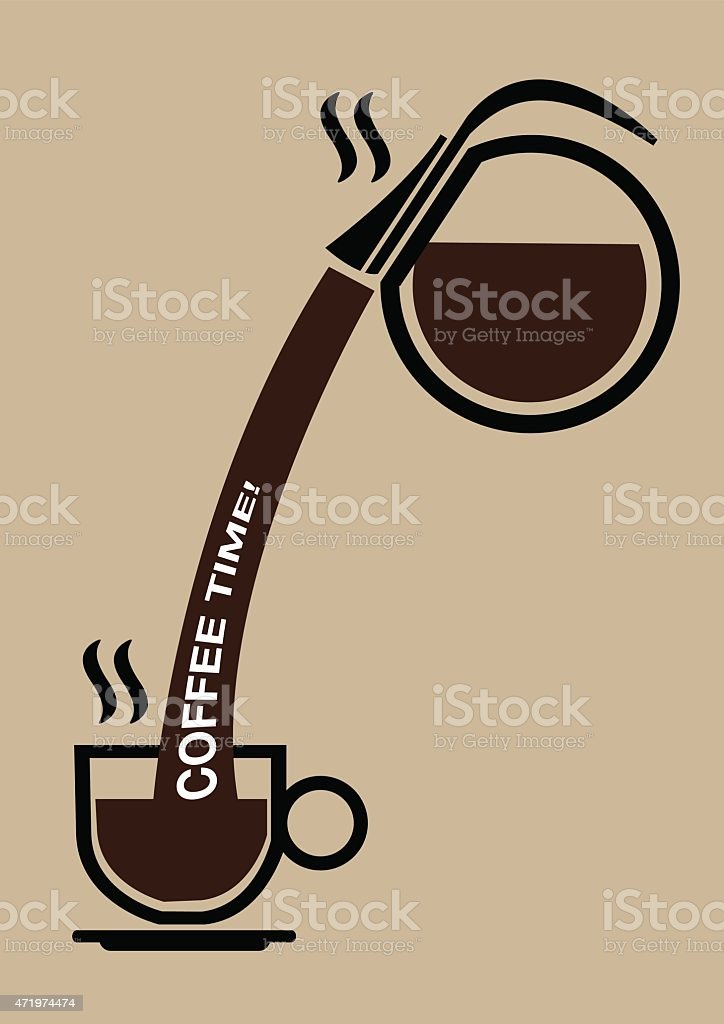 Coffee Break Conceptual Vector Illustration vector art illustration