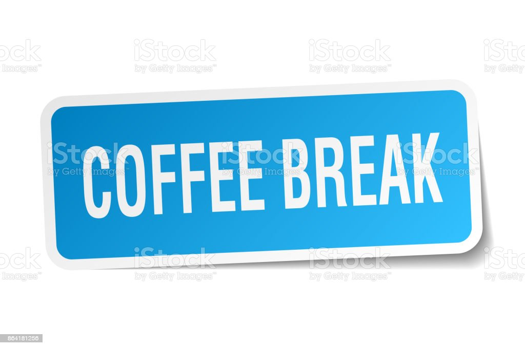 coffee break square sticker on white royalty-free coffee break square sticker on white stock vector art & more images of badge