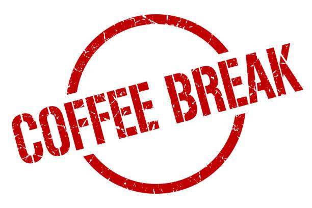 ilustrações de stock, clip art, desenhos animados e ícones de coffee break stamp - pausa para café