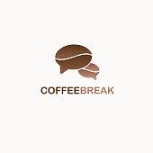 Coffee Break vector design template.