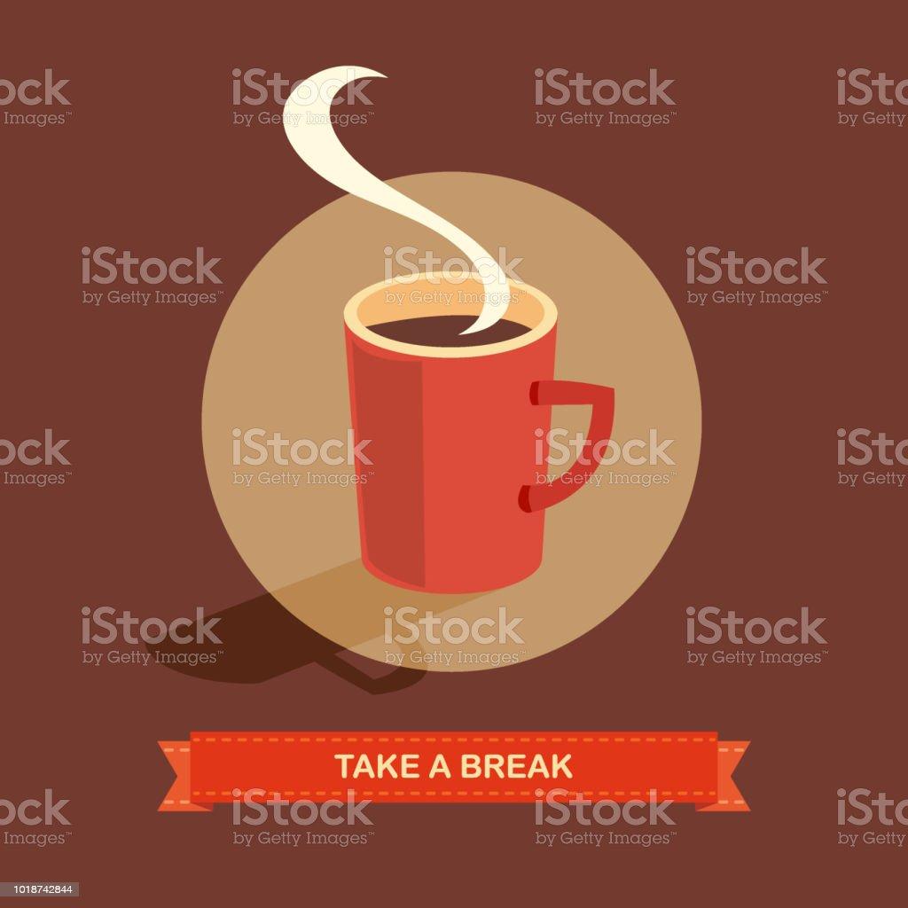 Coffee Break vector art illustration