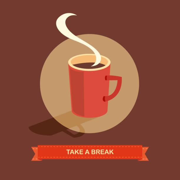 ilustrações de stock, clip art, desenhos animados e ícones de coffee break - pausa para café