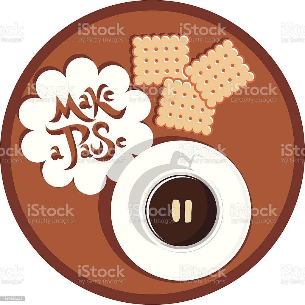 coffee Kaffeepause – Vektorgrafik