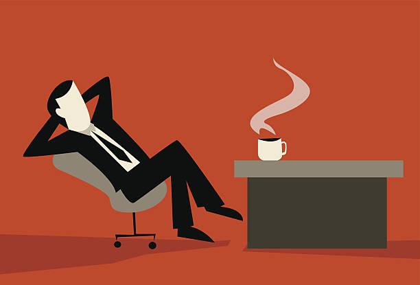 illustrazioni stock, clip art, cartoni animati e icone di tendenza di pausa caffè - facilità