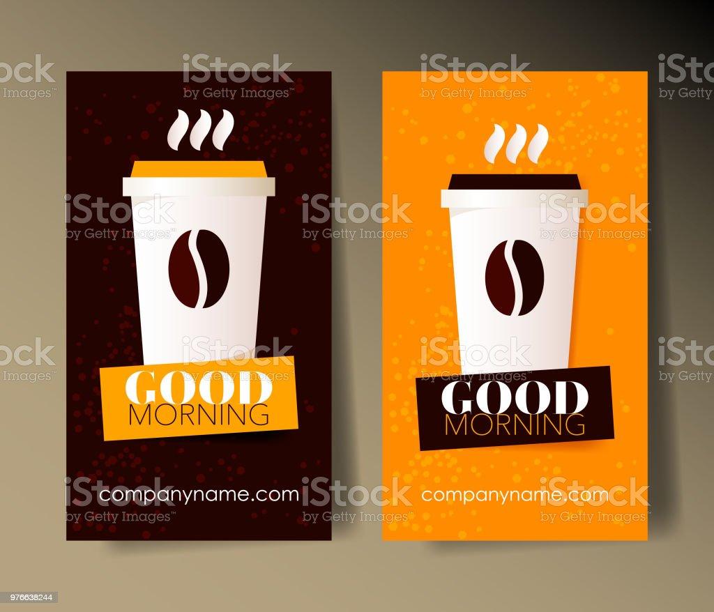 Kaffee Visitenkarten Designvorlagen Mit Text Stock Vektor Art Und Mehr Bilder Von Bildhintergrund