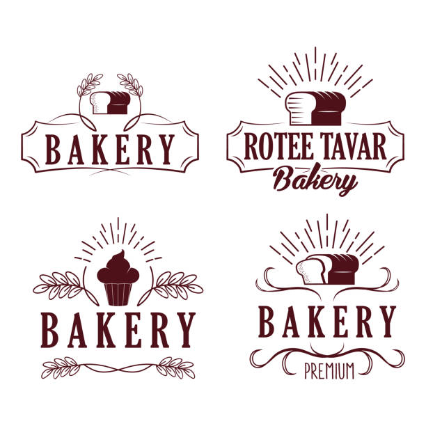 Coffee Cafe Bakery Badges Logos vector art illustration