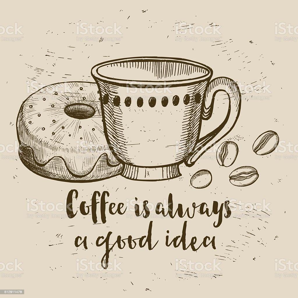 Coffee Cafe Menu Template Design Royalty Free Stock