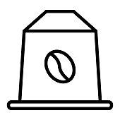istock Coffee Capsule Line Icon, Outline Symbol Vector Illustration 1312869554