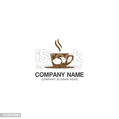 istock Coffee Chat logo design vector template 1048646984