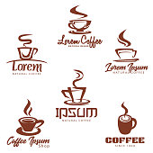 Vector illustration of beautiful Coffee Clip Art Icon Collection