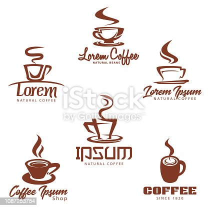istock Coffee Clip Art Icon Collection 1087253754