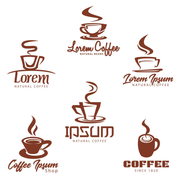 coffee clip art icon collection - coffee stock illustrations, clip art, cartoons, & icons