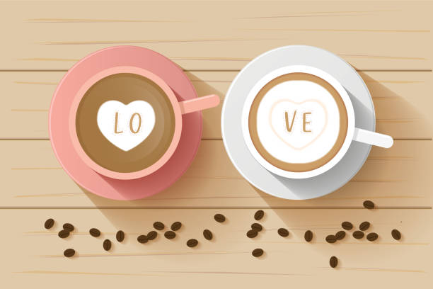 Royalty Free Latte Art Heart Clip Art, Vector Images & Illustrations - iStock