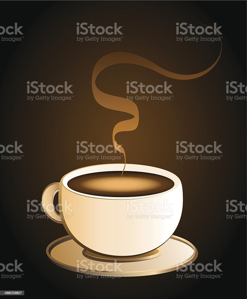 Coffee Cup Brown vector art illustration