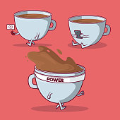 Coffee, breakfast, food, energy, tech, sports design concept