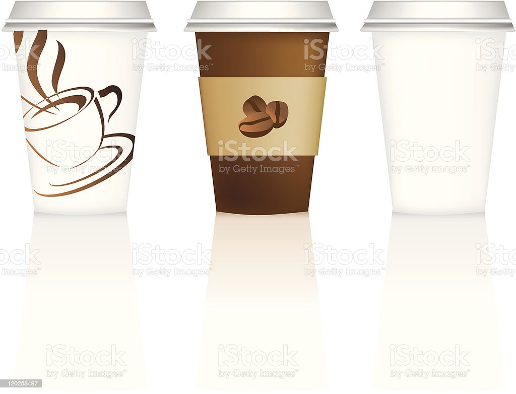 coffee cup collection royalty-free stock vector art