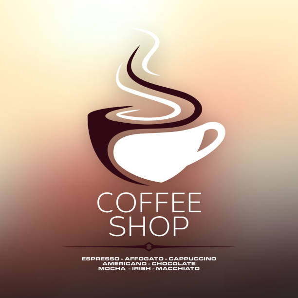 coffee cup concept design - cafe stock illustrations