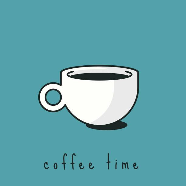 ilustrações de stock, clip art, desenhos animados e ícones de coffee cup design - pausa para café