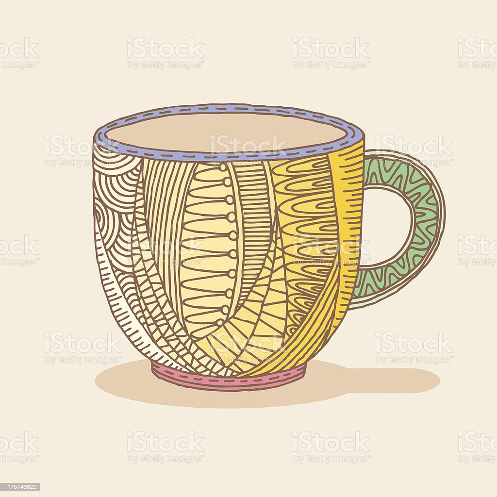 Coffee Cup Doodle royalty-free stock vector art
