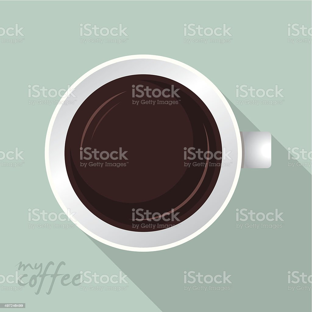 Coffee cup flat design royalty-free stock vector art