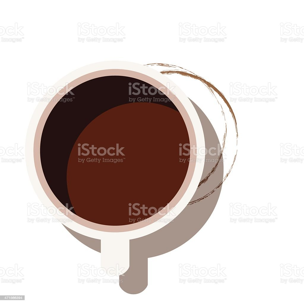 Coffee cup from above - VECTOR vector art illustration