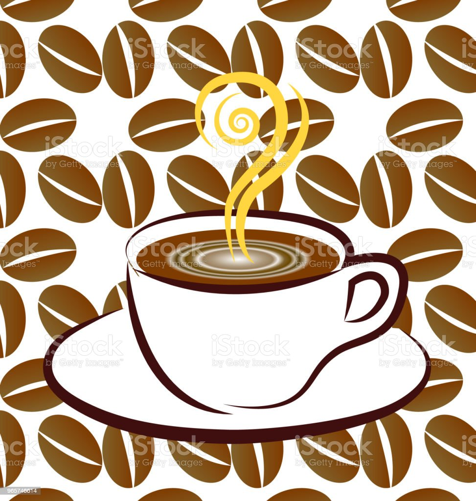 Coffee cup icon background vector - Royalty-free Backgrounds stock vector