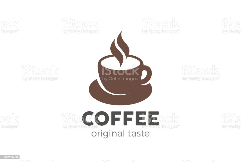 Coffee cup icon design vector template. Cafe symbol icon vector art illustration