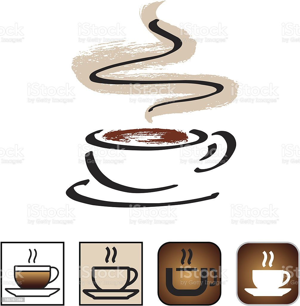 Coffee cup icon set royalty-free stock vector art