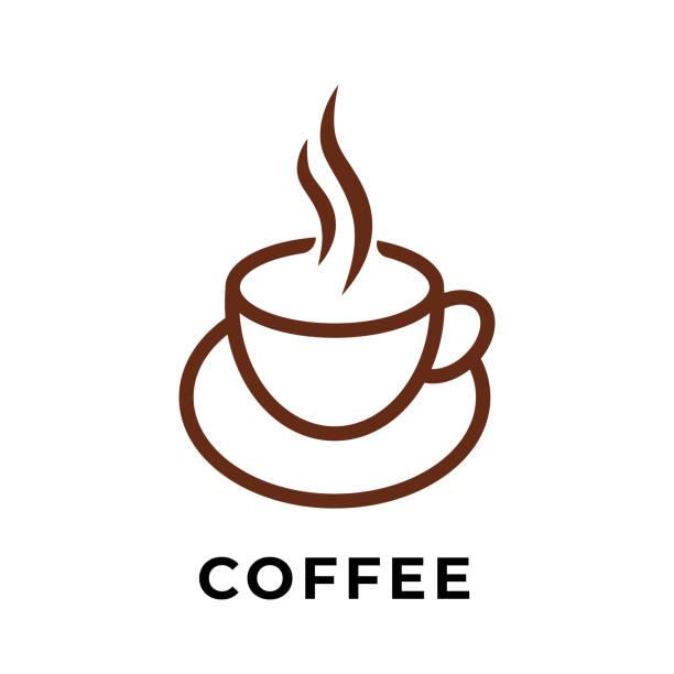 bildbanksillustrationer, clip art samt tecknat material och ikoner med kaffekopp ikon vektor design illustration. cup of coffee ikon vektor isolerade på vit bakgrund. enkel kaffekopp design för logo, webbikon, tecken och symbol vektor illustration mall. - koffein