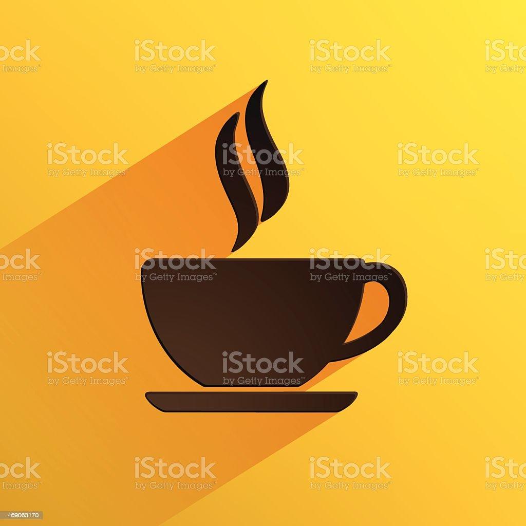 coffee cup  icon vector art illustration