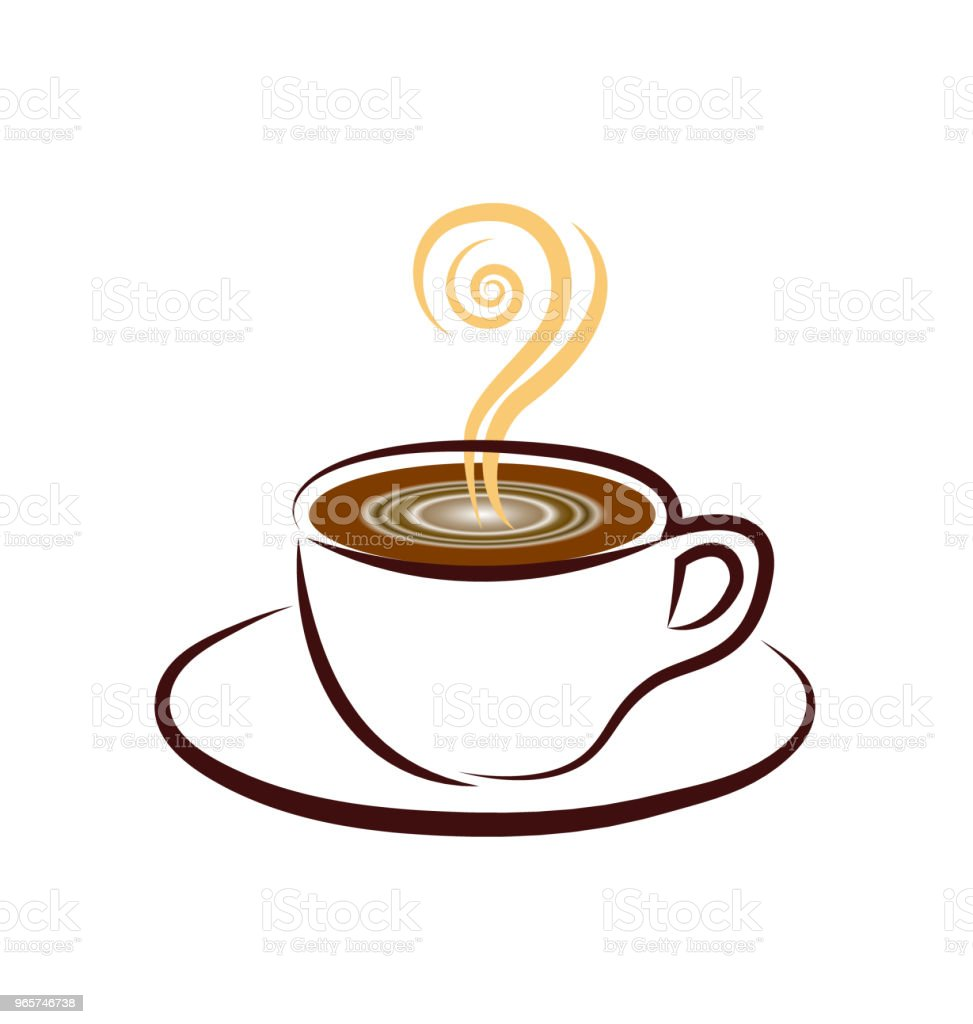 Koffiekopje-pictogram - Royalty-free Achtergrond - Thema vectorkunst