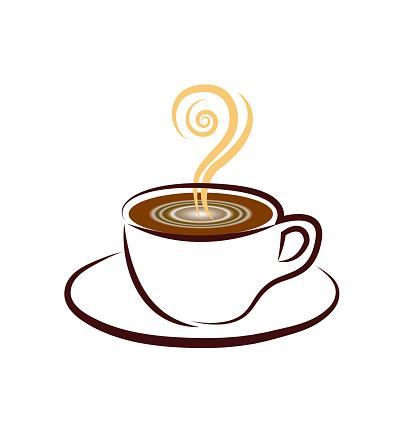 Koffiekopjepictogram Stockvectorkunst en meer beelden van Achtergrond - Thema