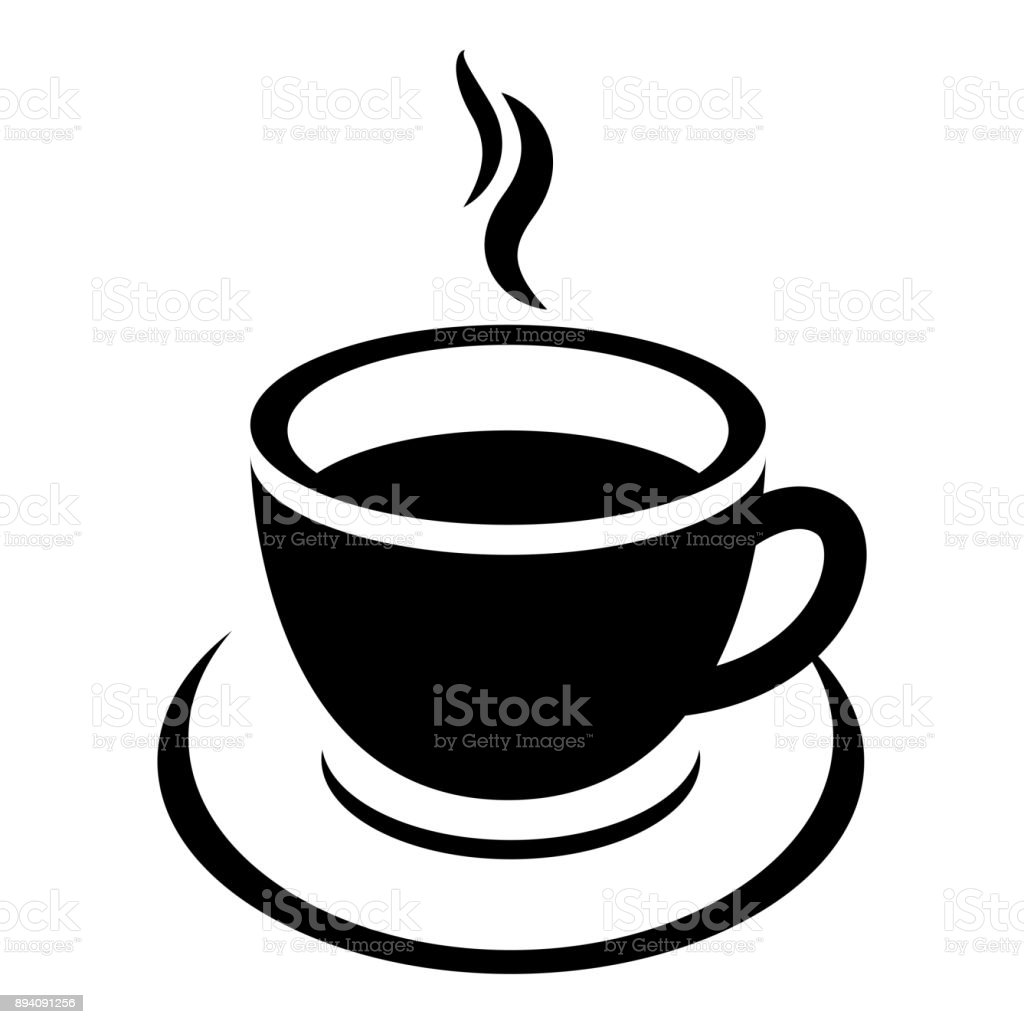 coffee cup icon vector vector art illustration