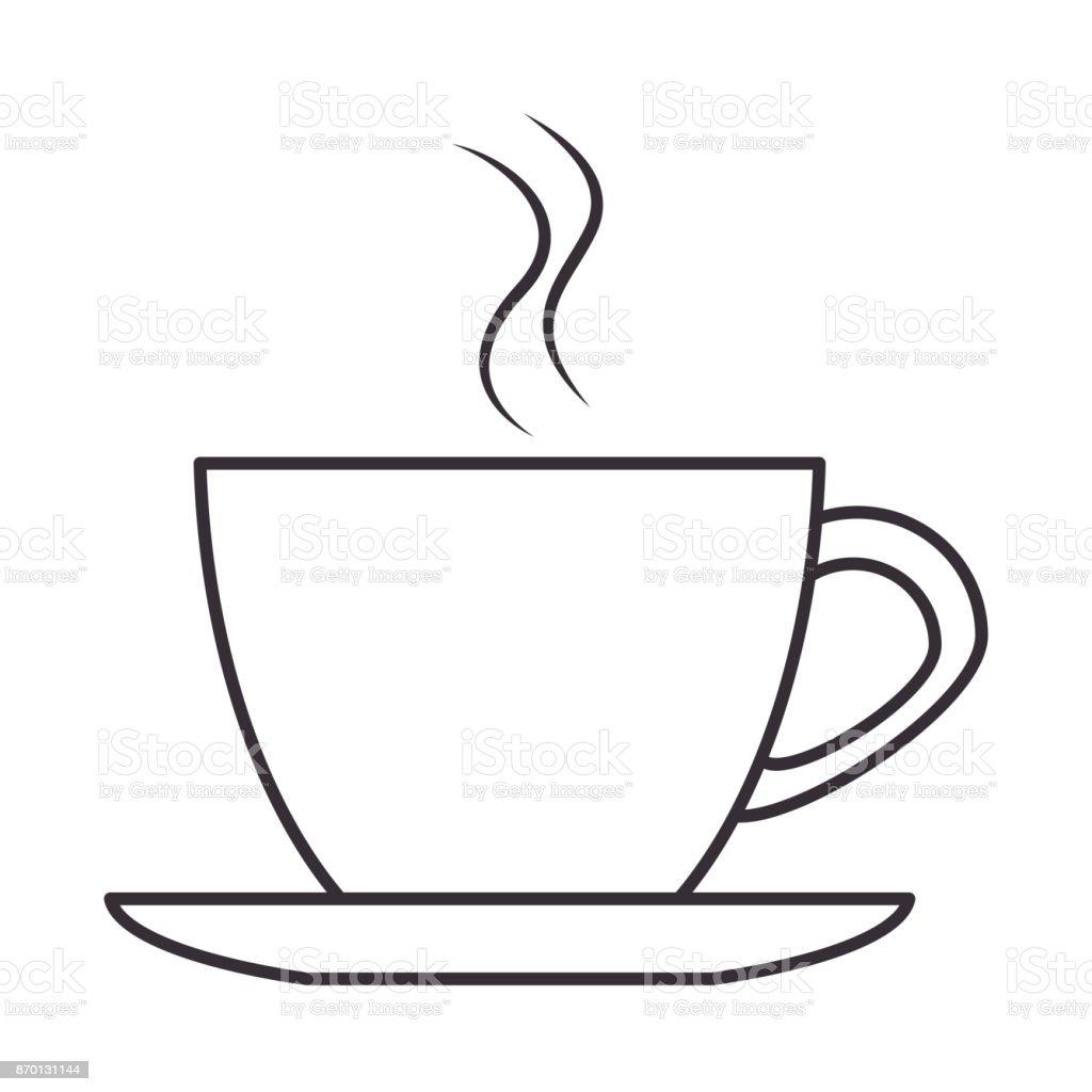 Café Et Icône Isolé Vecteurs Droits De Libres Tasse Plus PXOkZiu