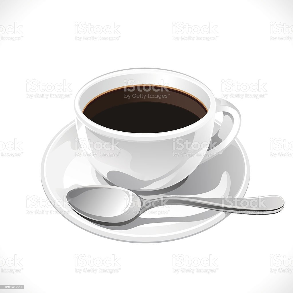 Coffee cup isolated on white background. royalty-free coffee cup isolated on white background stock vector art & more images of arabica coffee - drink